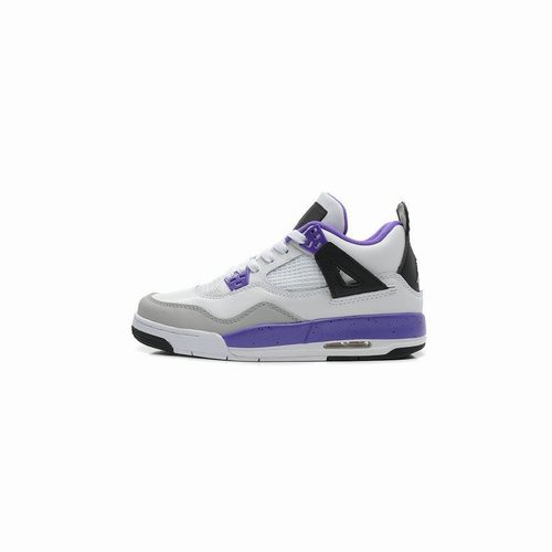 the best attitude 1c22e 4cefb 487724-108 Air Jordan IV 4 Retro Womens Purple White Black ...